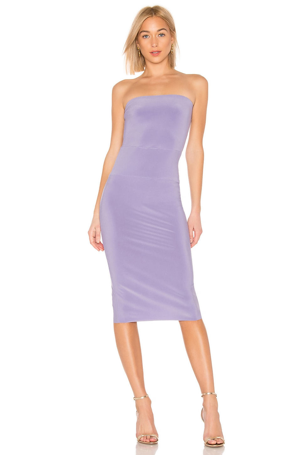 Norma Kamali X REVOLVE Strapless Dress in Lilac