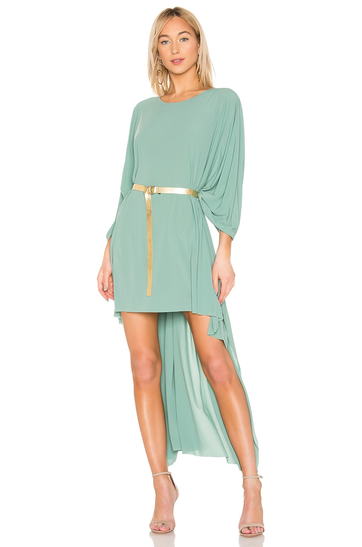 Norma Kamali X REVOLVE Hi Low Poncho Dress in Moss