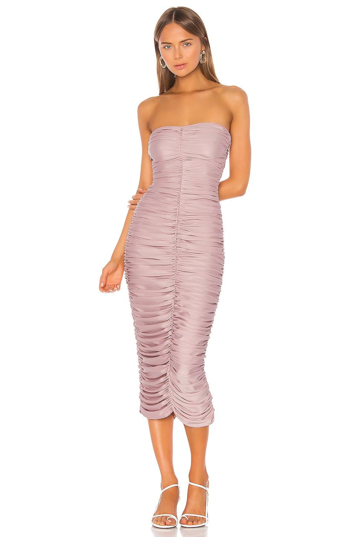 Norma Kamali Slinky Dress in Posey Pink