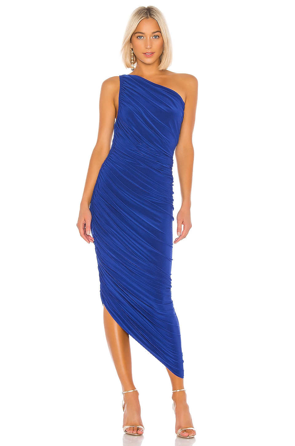 Norma Kamali Diana Gown in Berry Blue