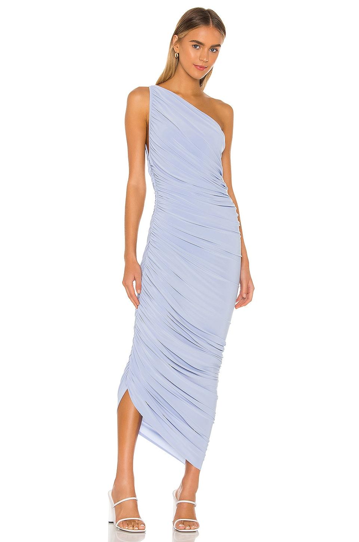 Norma Kamali X REVOLVE Diana Gown in Celestial Blue