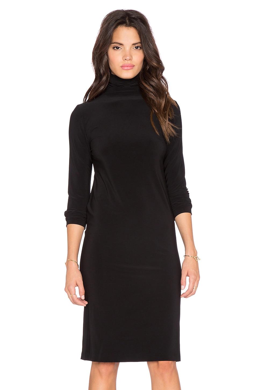 Norma Kamali KAMALI KULTURE Turtleneck Midi Dress in Black