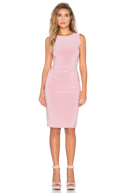 Norma Kamali KAMALIKULTURE Shirred Waist Dress in Pink