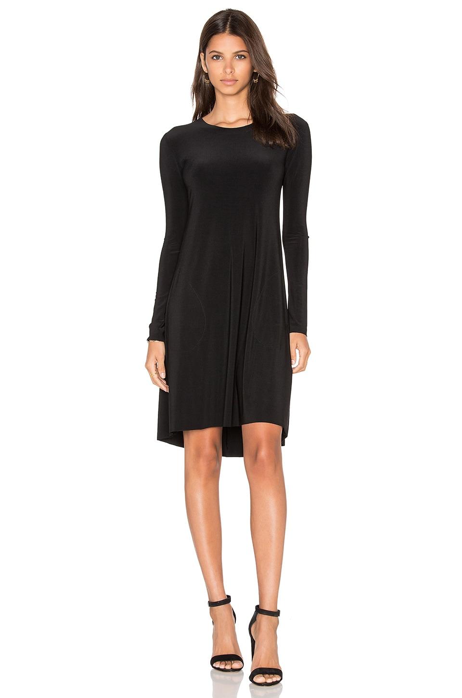 Norma Kamali Long Sleeve Swing Dress in Black