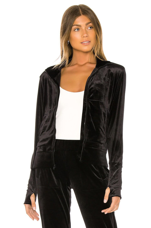 Norma Kamali Velvet Turtle Jacket in Black