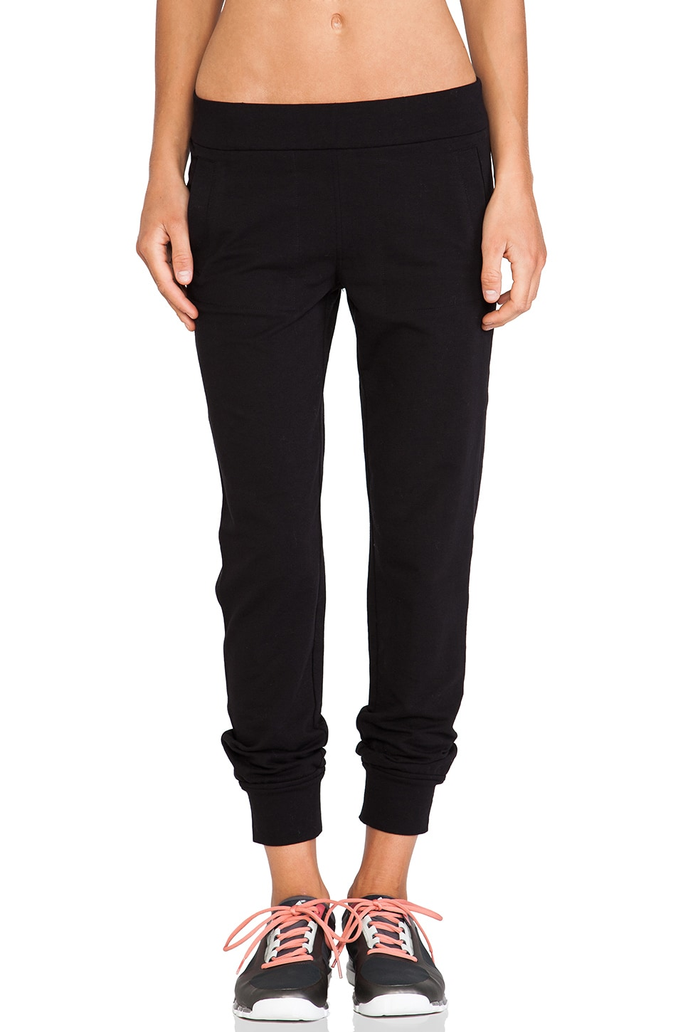 Norma Kamali Jog Pants in Black
