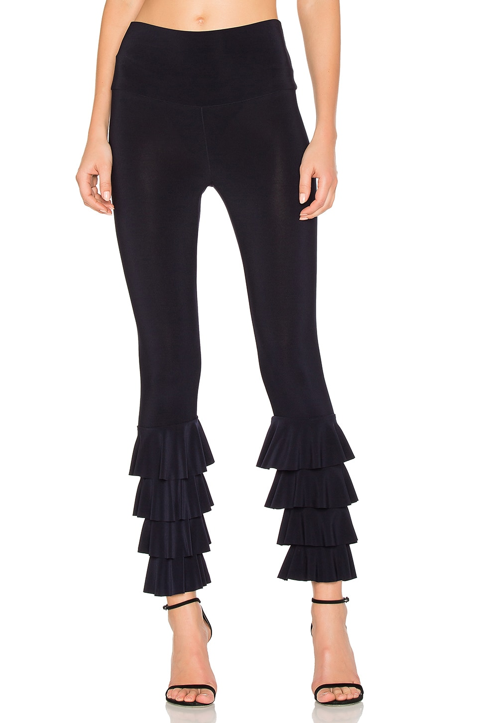 Norma Kamali Ruffle Legging in Midnight