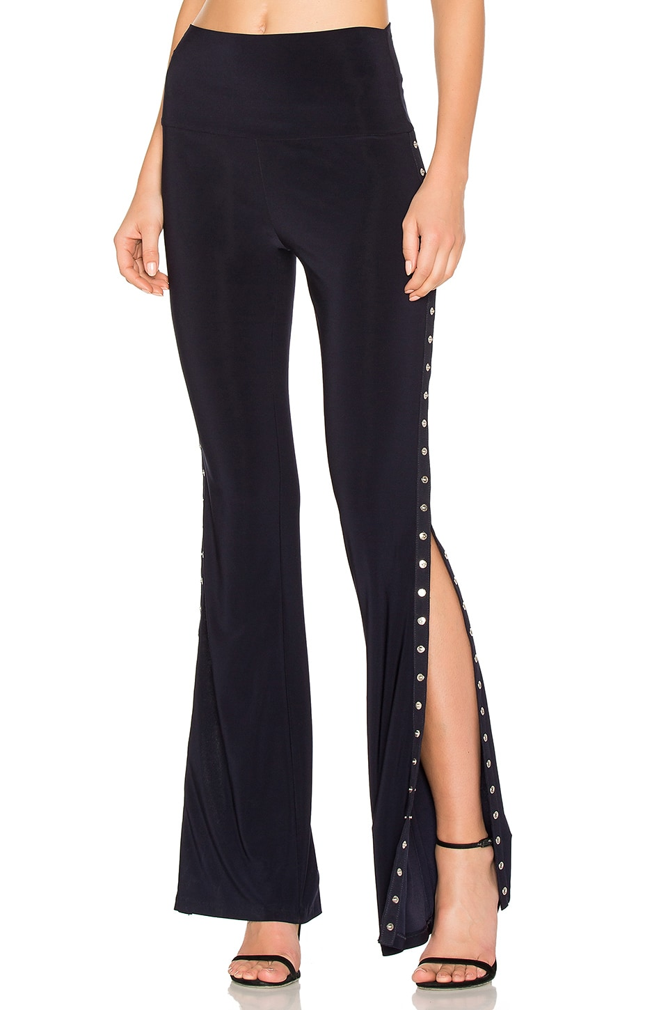 Norma Kamali Side Snap Boot Pant in Midnight