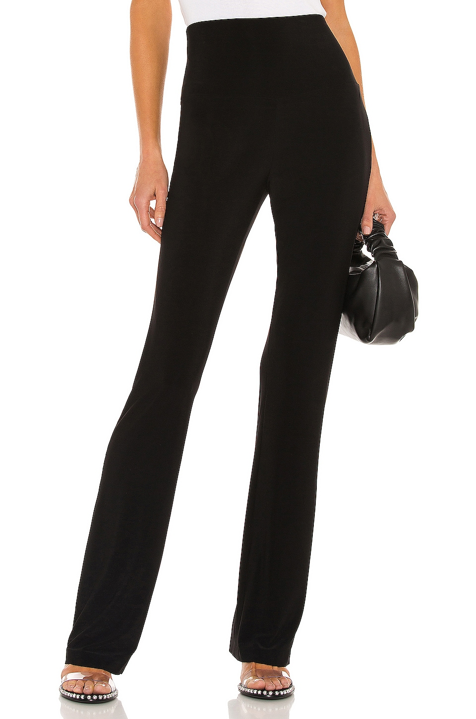 Norma Kamali Boot Pant in Black