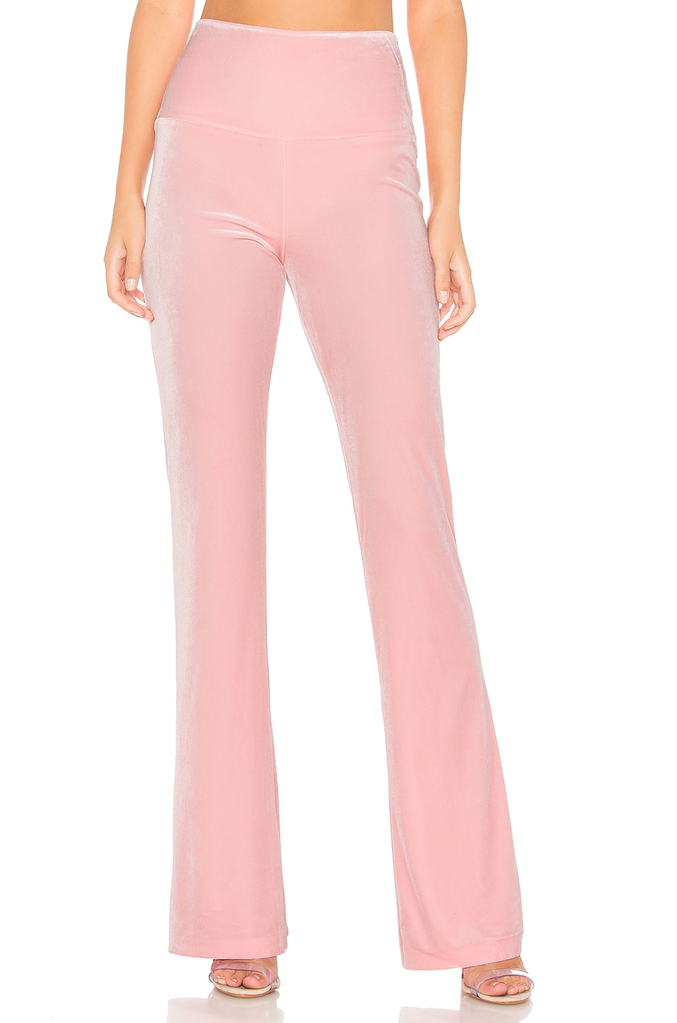 Norma Kamali Boot Pant in Dusty Pink