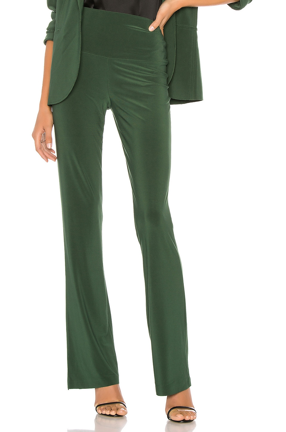 Norma Kamali Boot Pant in Forest Green