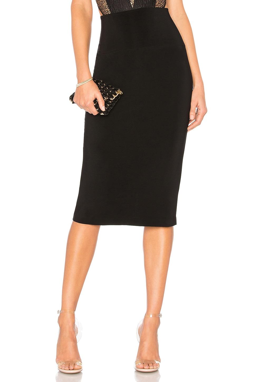 Norma Kamali Straight Skirt in Black