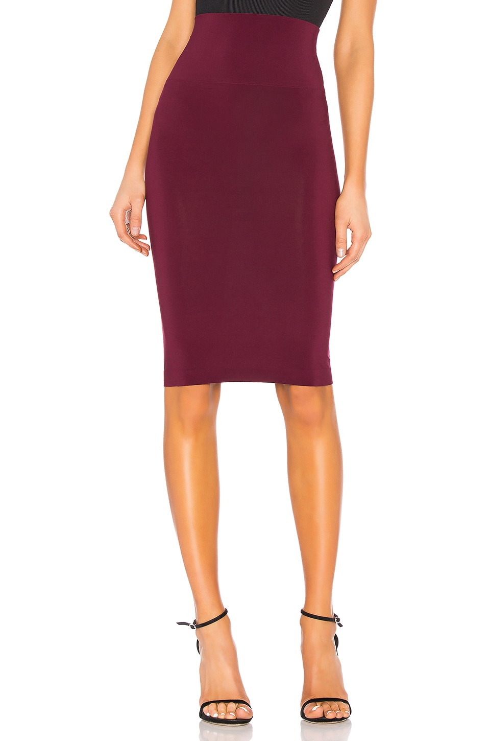 Norma Kamali Tube Skirt in Plum