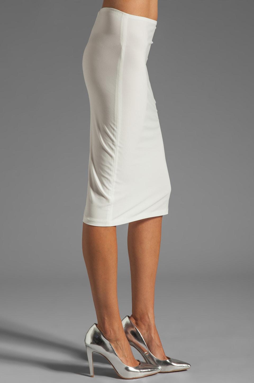 Norma Kamali Modern Vintage Jersey Pencil Skirt in Ivory & Silver ...