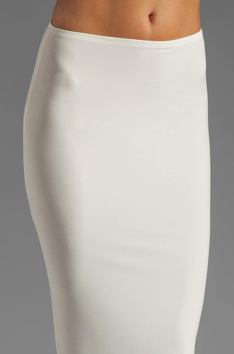 Norma Kamali Modern Vintage Jersey Pencil Skirt in White