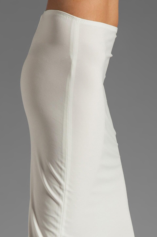 Norma Kamali Modern Vintage Jersey Pencil Skirt in White