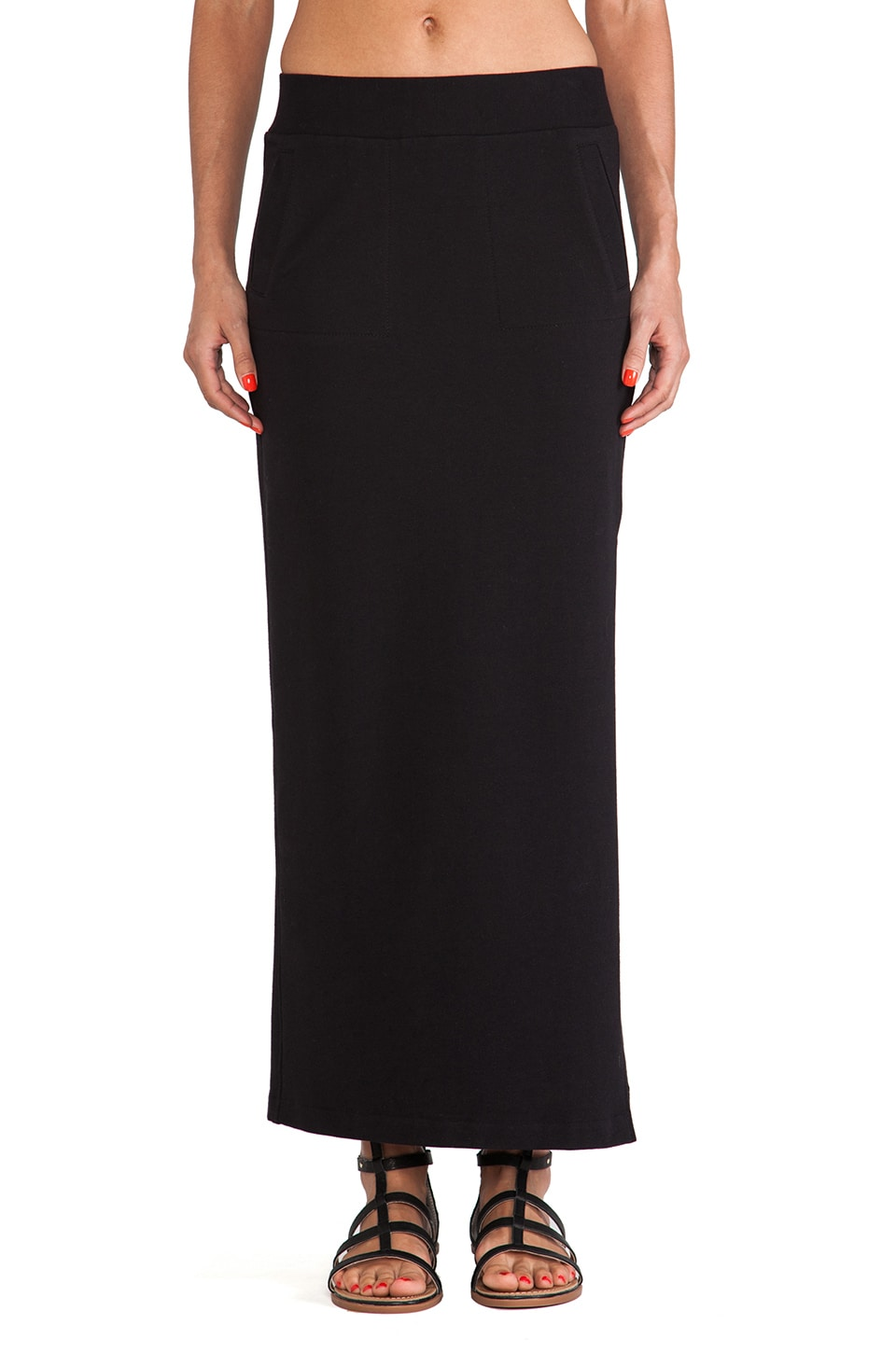 Norma Kamali Maxi Skirt in Black
