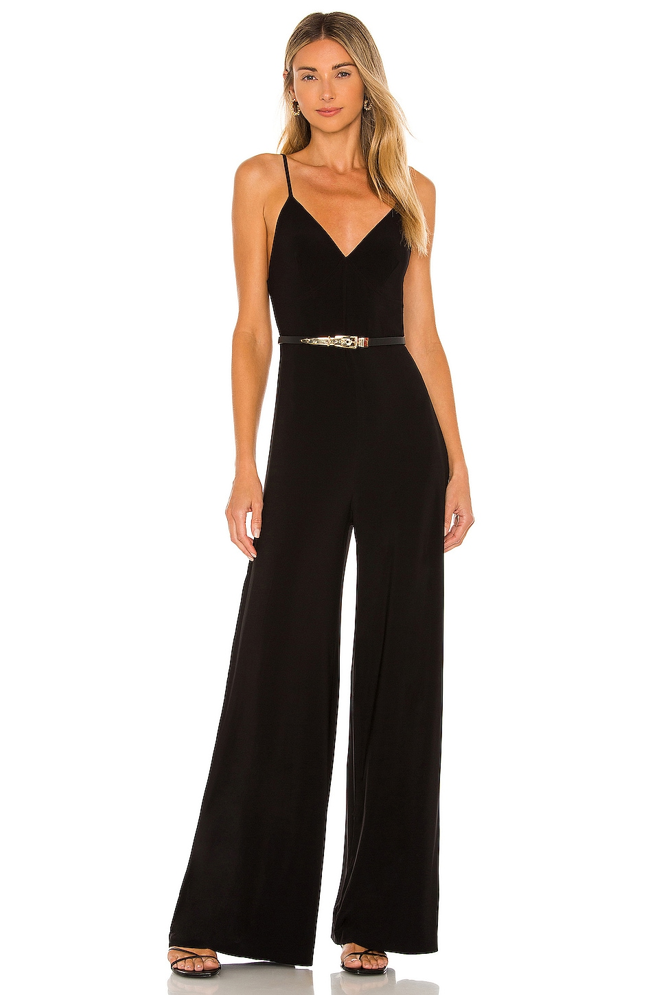 Norma Kamali Slip Jumpsuit in Black