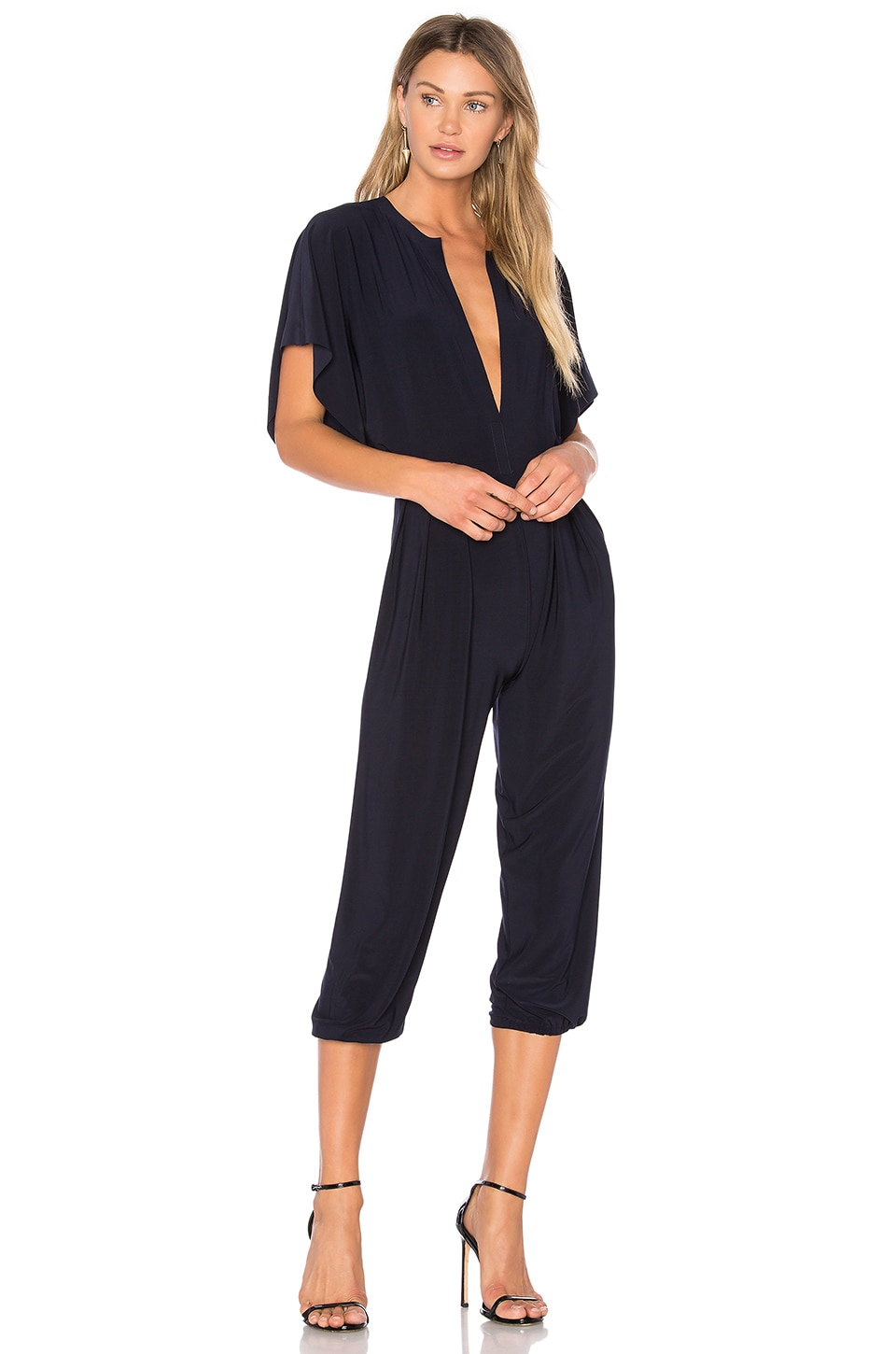 Norma Kamali Rectangle Jog Jumpsuit in Midnight