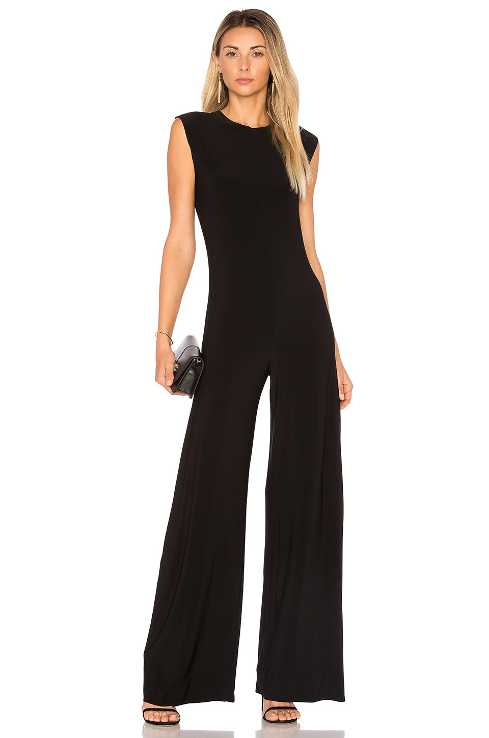 Norma Kamali Sleeveless Jumpsuit in Black