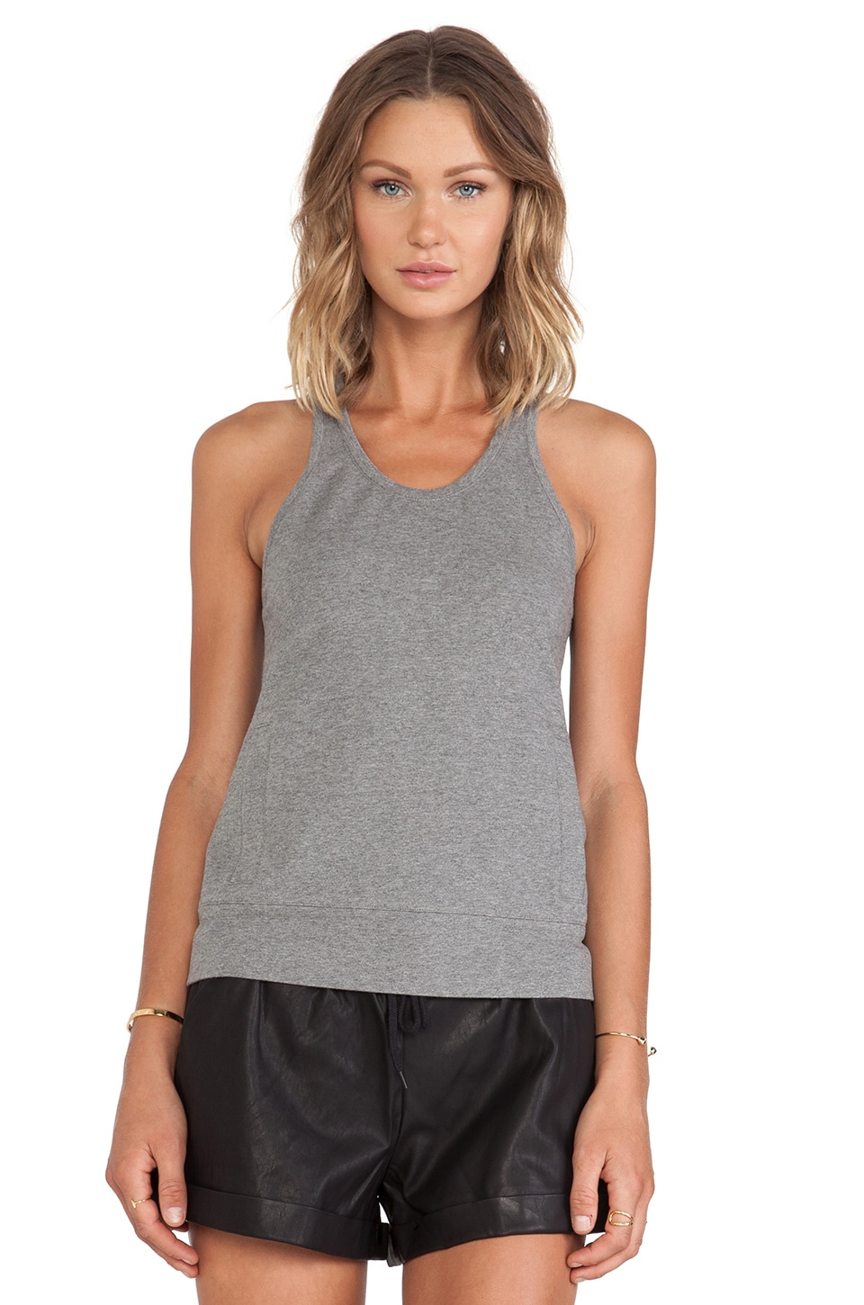 Norma Kamali Racer Tank in Dark Grey