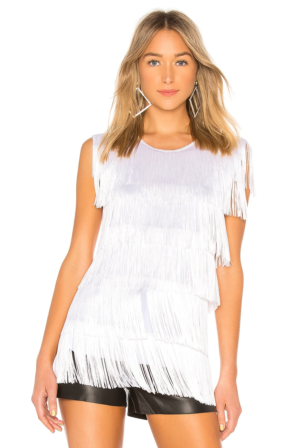 SLEEVELESS FRINGE TEE