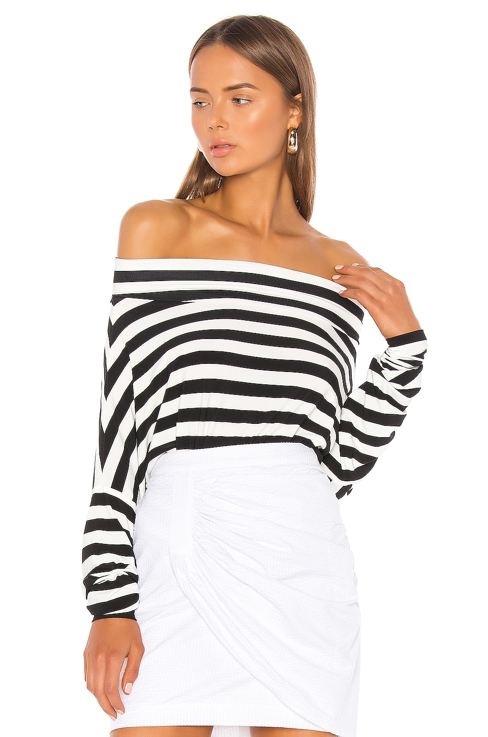 Norma Kamali All In One Bodysuit in Stripe