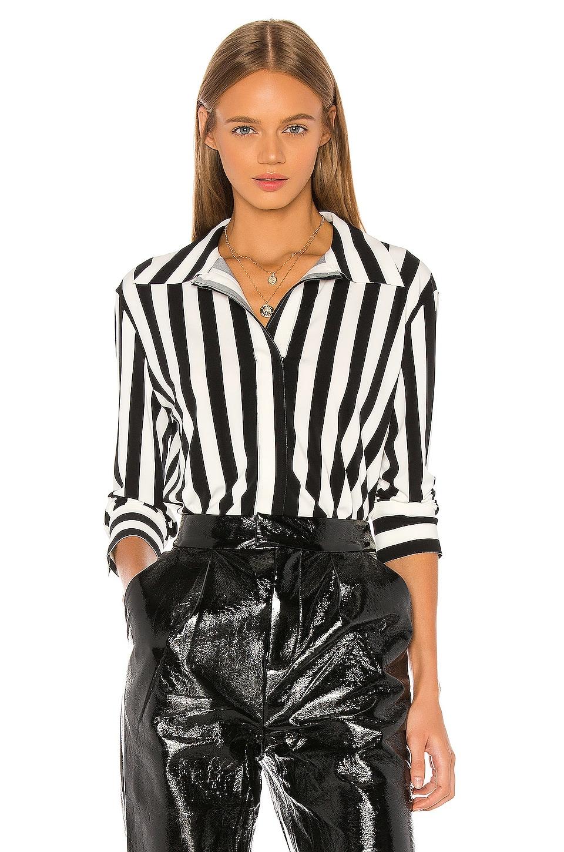 Norma Kamali NK Shirt in 3/4 Stripe