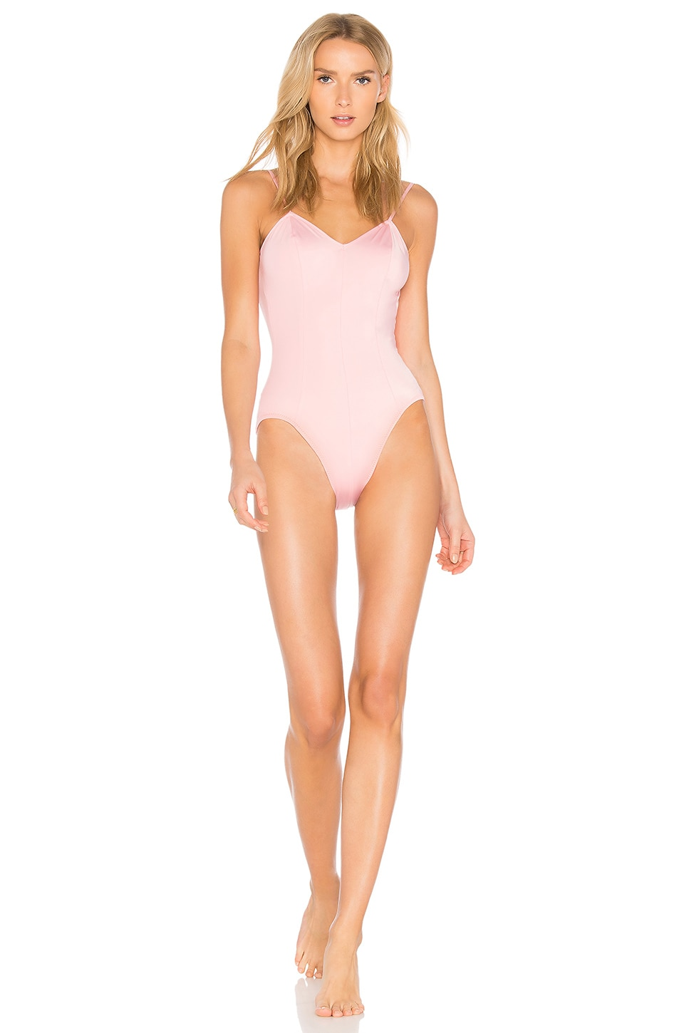 Norma Kamali Wonder Woman One Piece in Pink