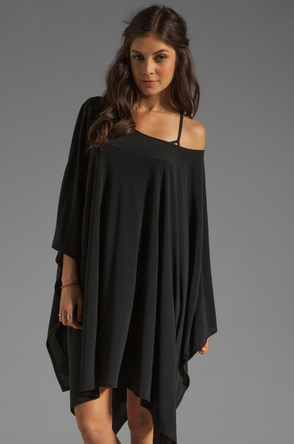Norma Kamali Hole In A Square Cover Up in Black