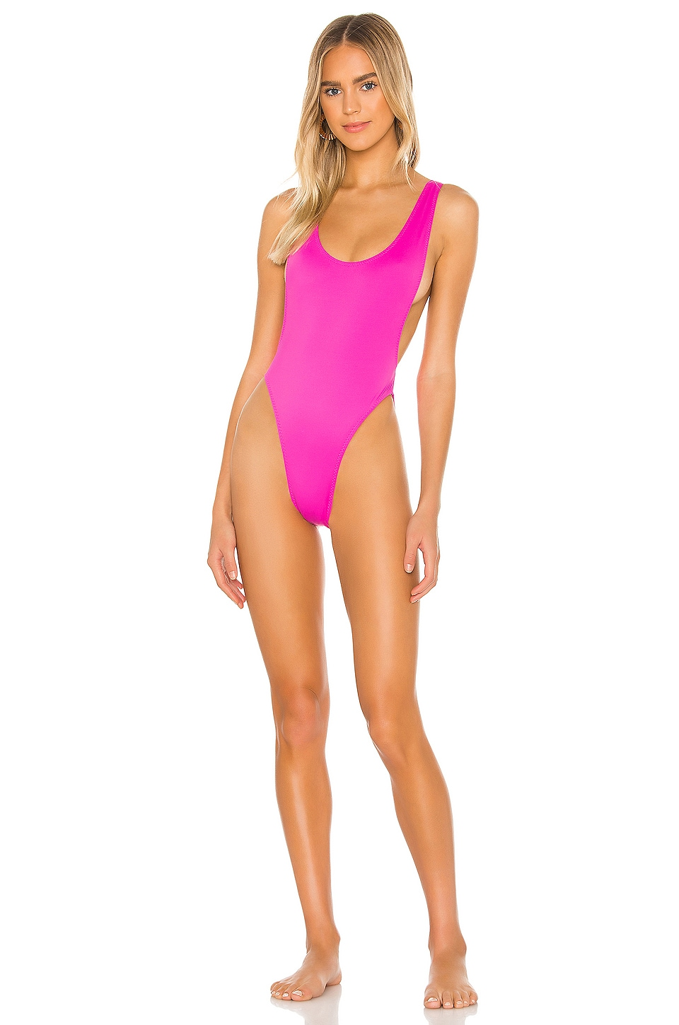 Norma Kamali X REVOVLE Marissa One Piece in Orchid Pink