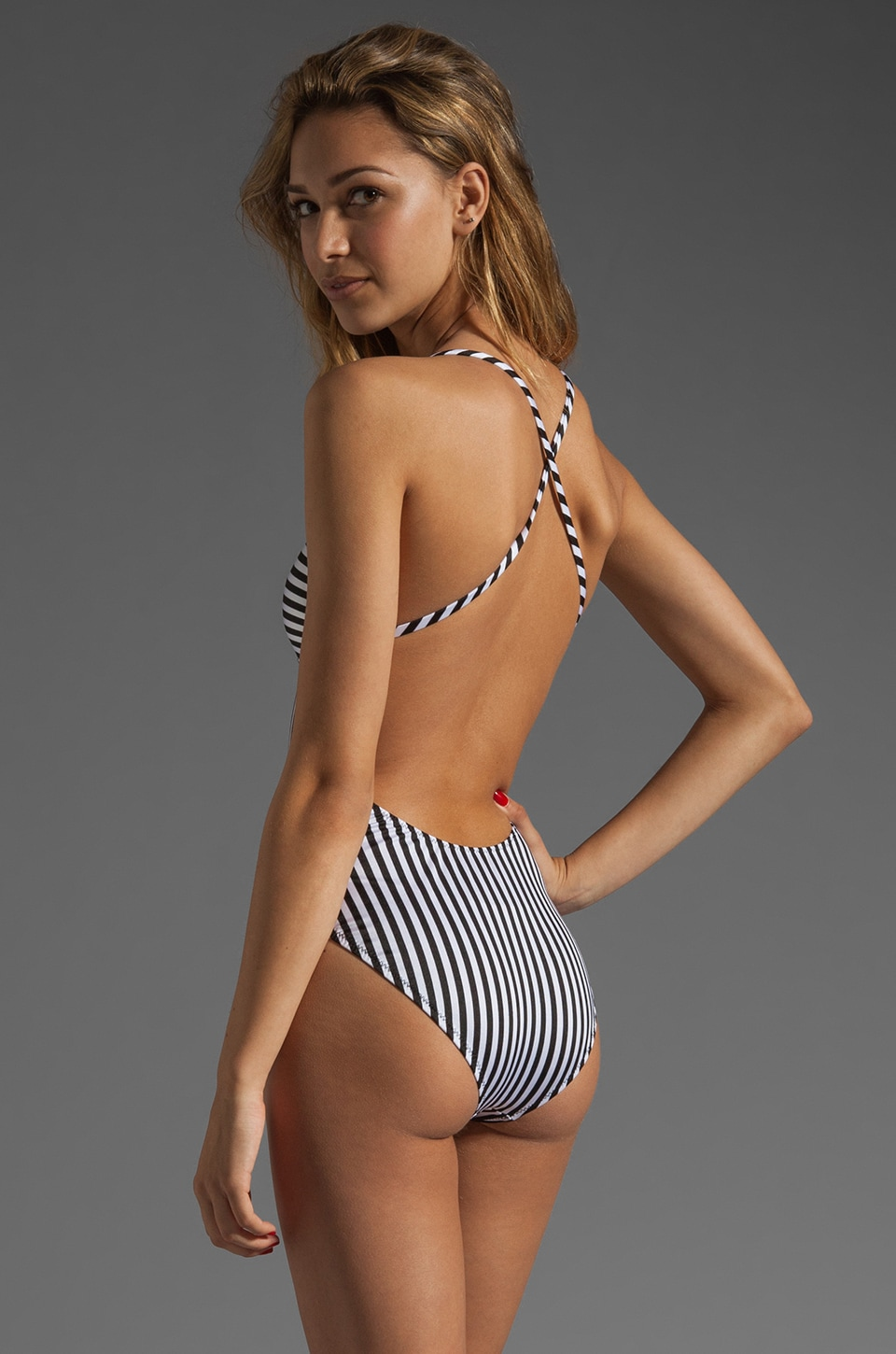 Norma Kamali Shane One-Piece in Black/White Combo