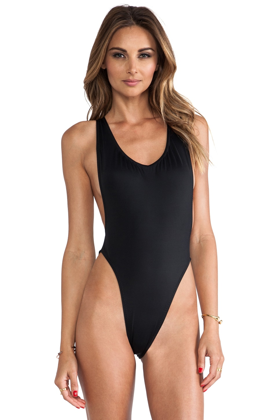 Norma Kamali Marissa One Piece in Black