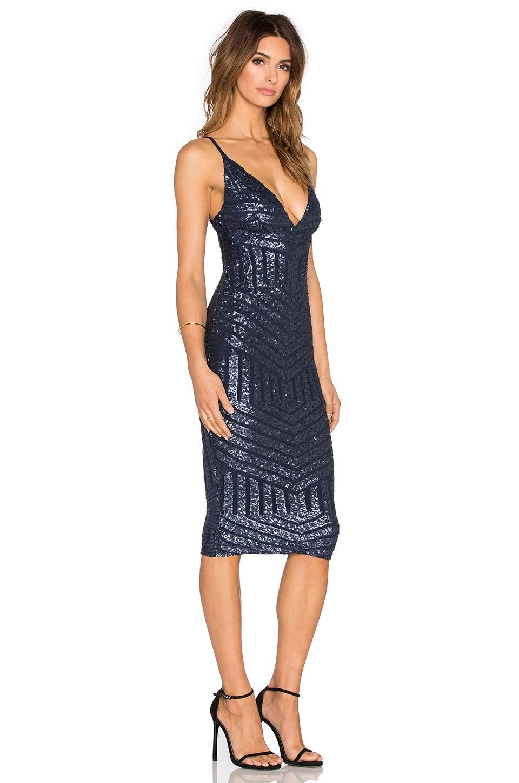 Nookie Starstruck Sequin Slip Dress in Navy Sequin - REVOLVE