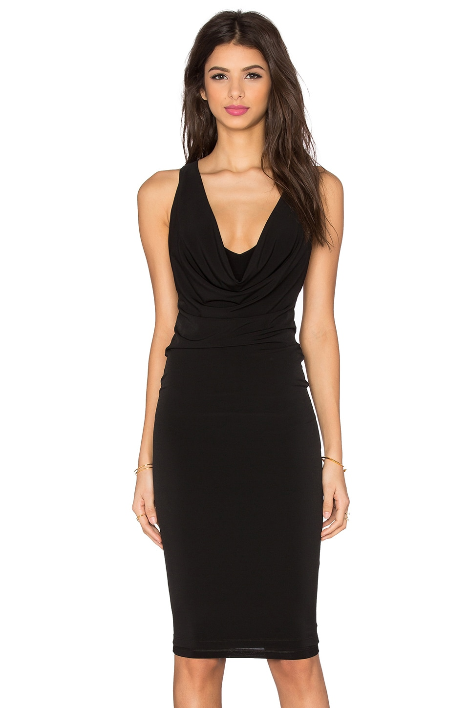 Nookie Halle Drape Dress in Black