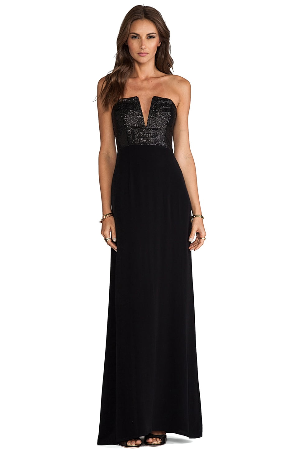 Nookie Masquerade Maxi Dress en Noir