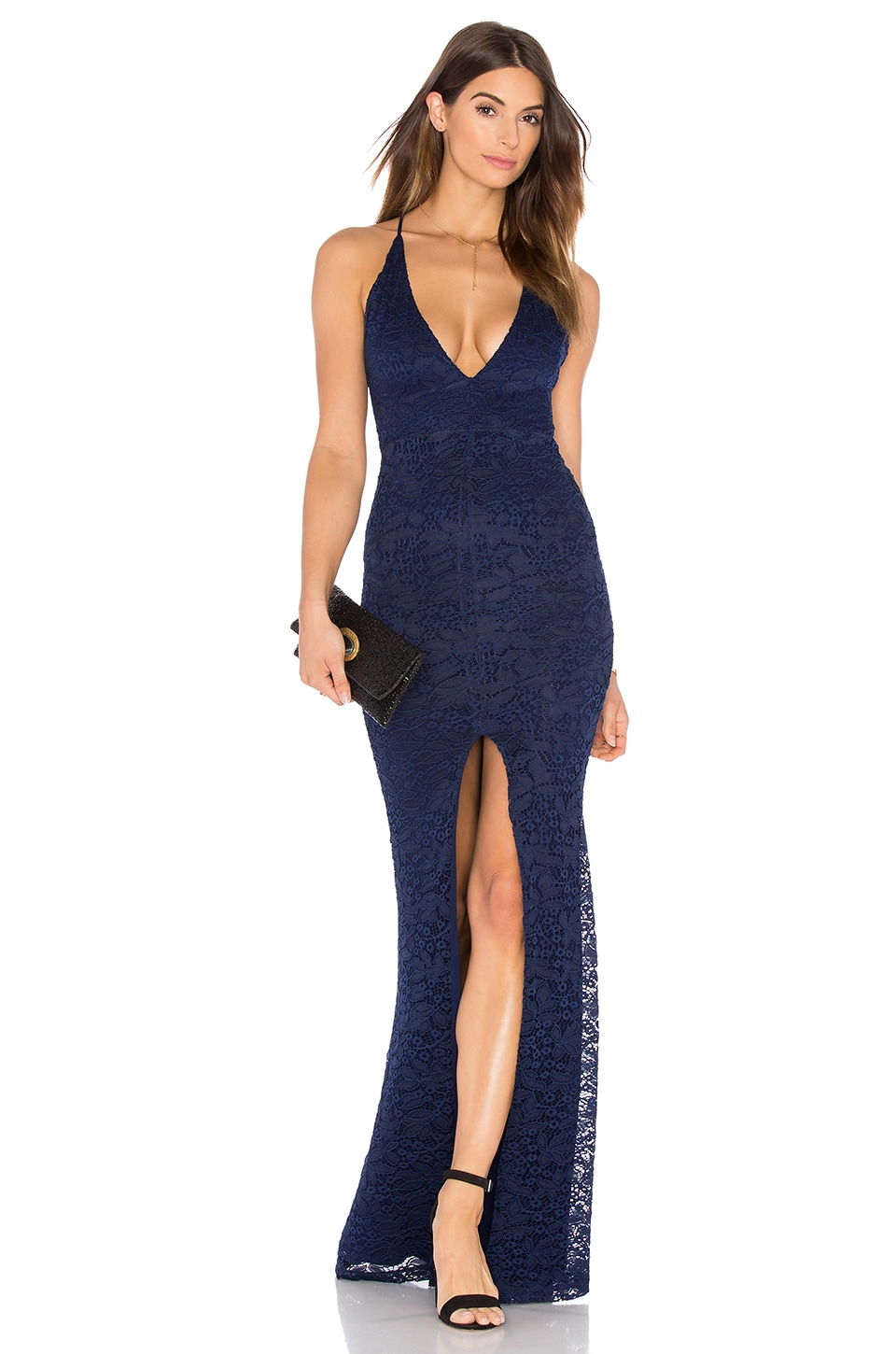 Nookie Rebel Heart Gown in Navy