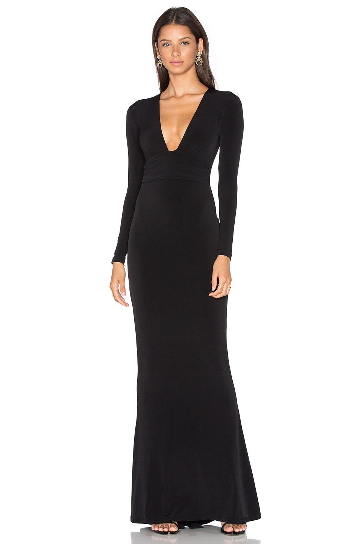 Nookie Cherish Long Sleeve Maxi Dress in Black
