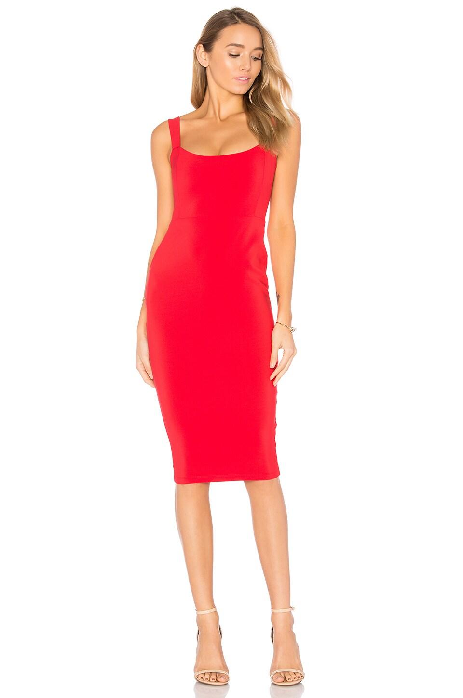 Nookie Glamour Dress in Cherry