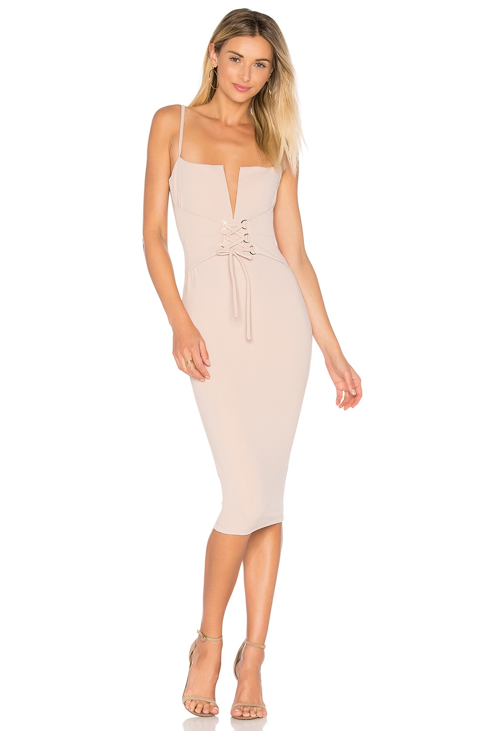 Nookie Madison Midi Dress in Sand