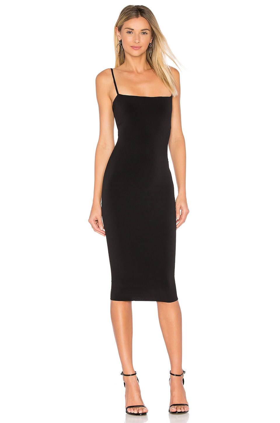 Nookie Charlize Midi Dress in Black