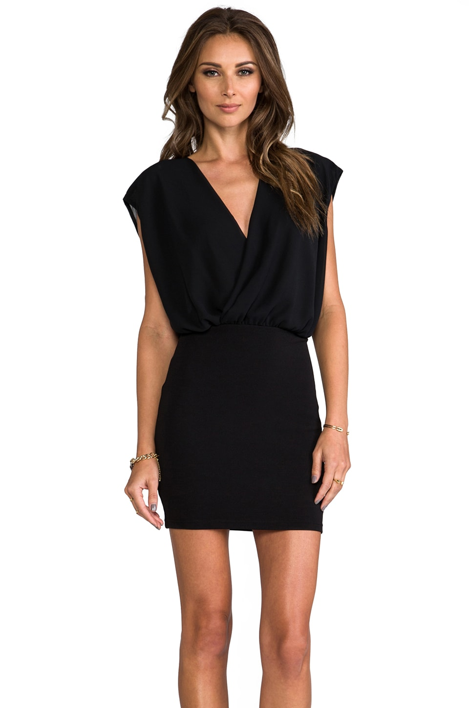 Nookie Parlour Wrap Dress in Black
