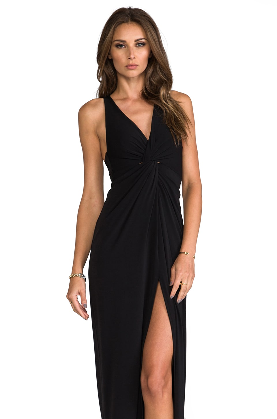 Nookie Twisted Affair Maxi Dress in Black