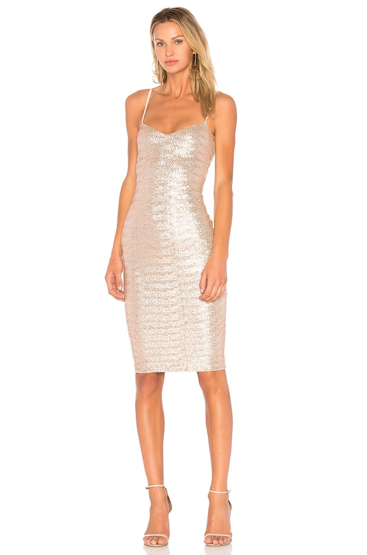 Nookie Vegas Midi Dress in Champagne