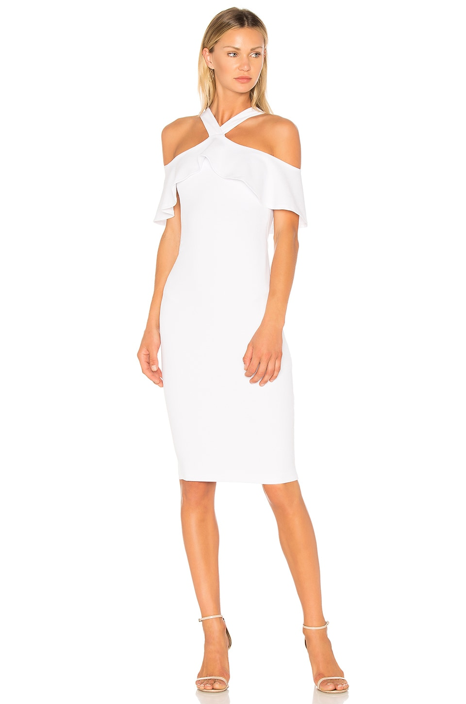 Nookie Hermosa Midi Dress in White