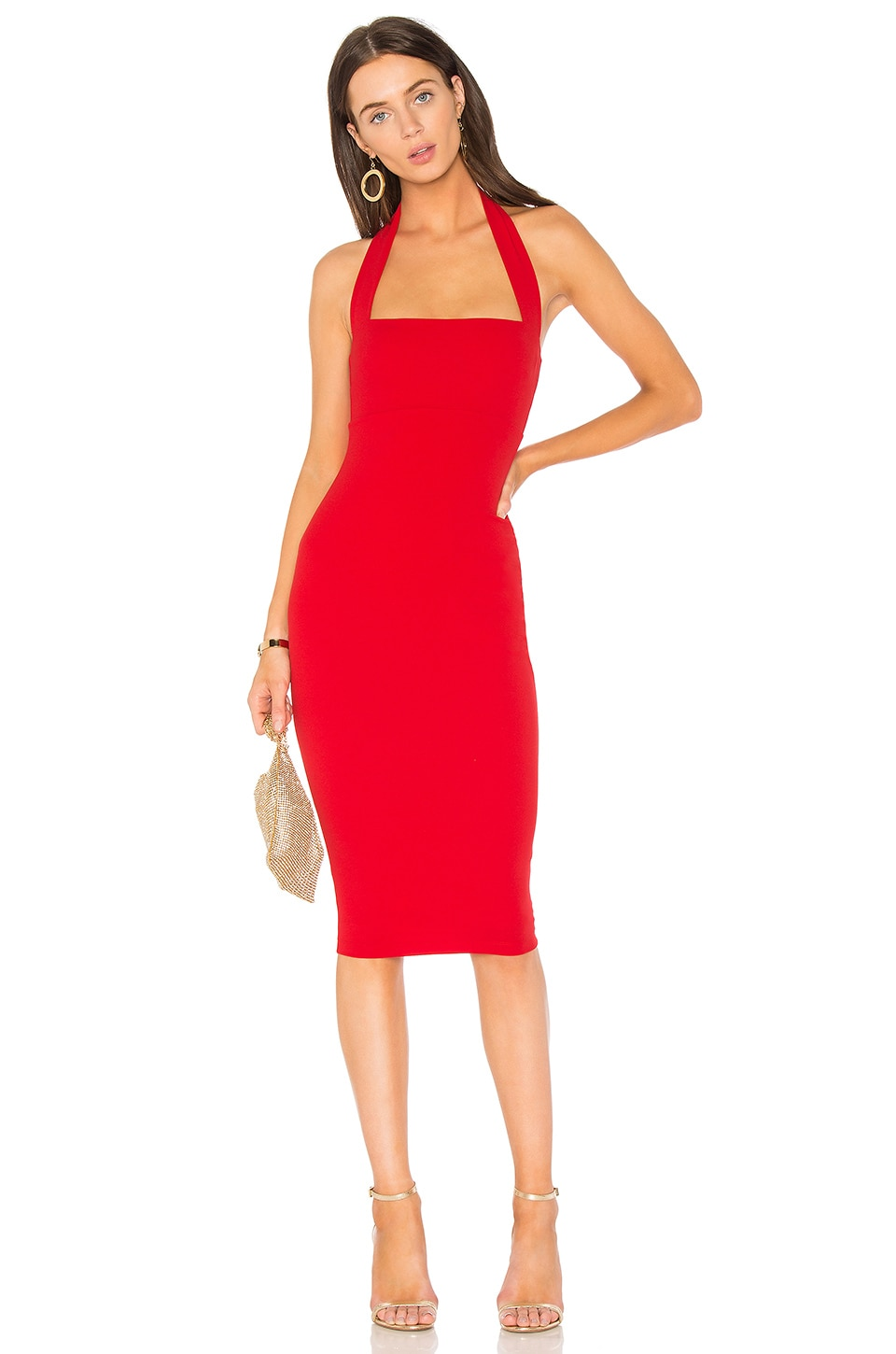 Nookie Boulevard Midi Dress in Flame