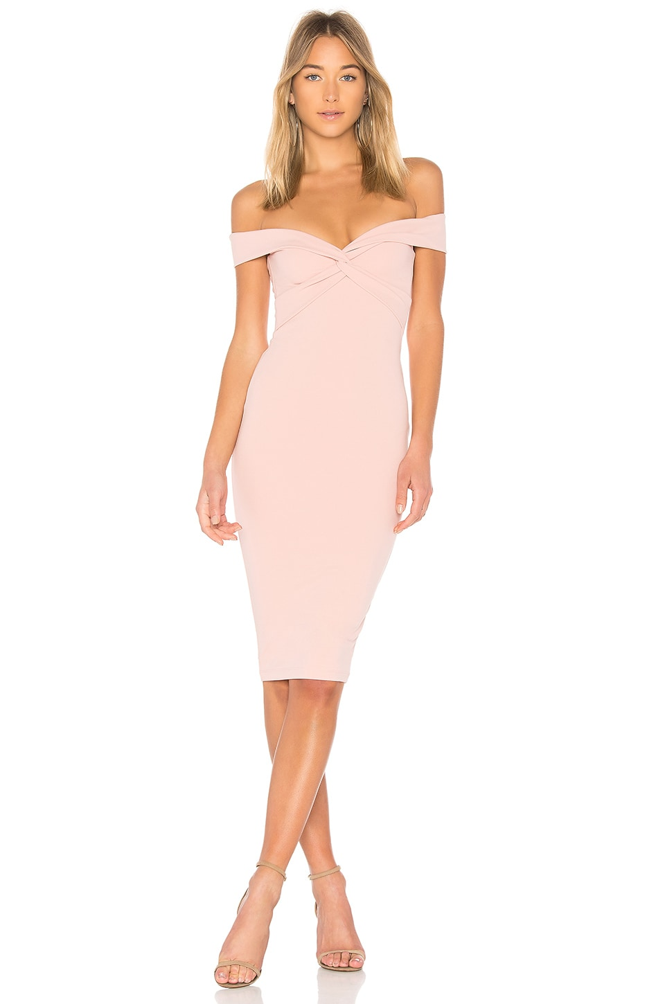 Nookie Dolly Midi Dress in Blush
