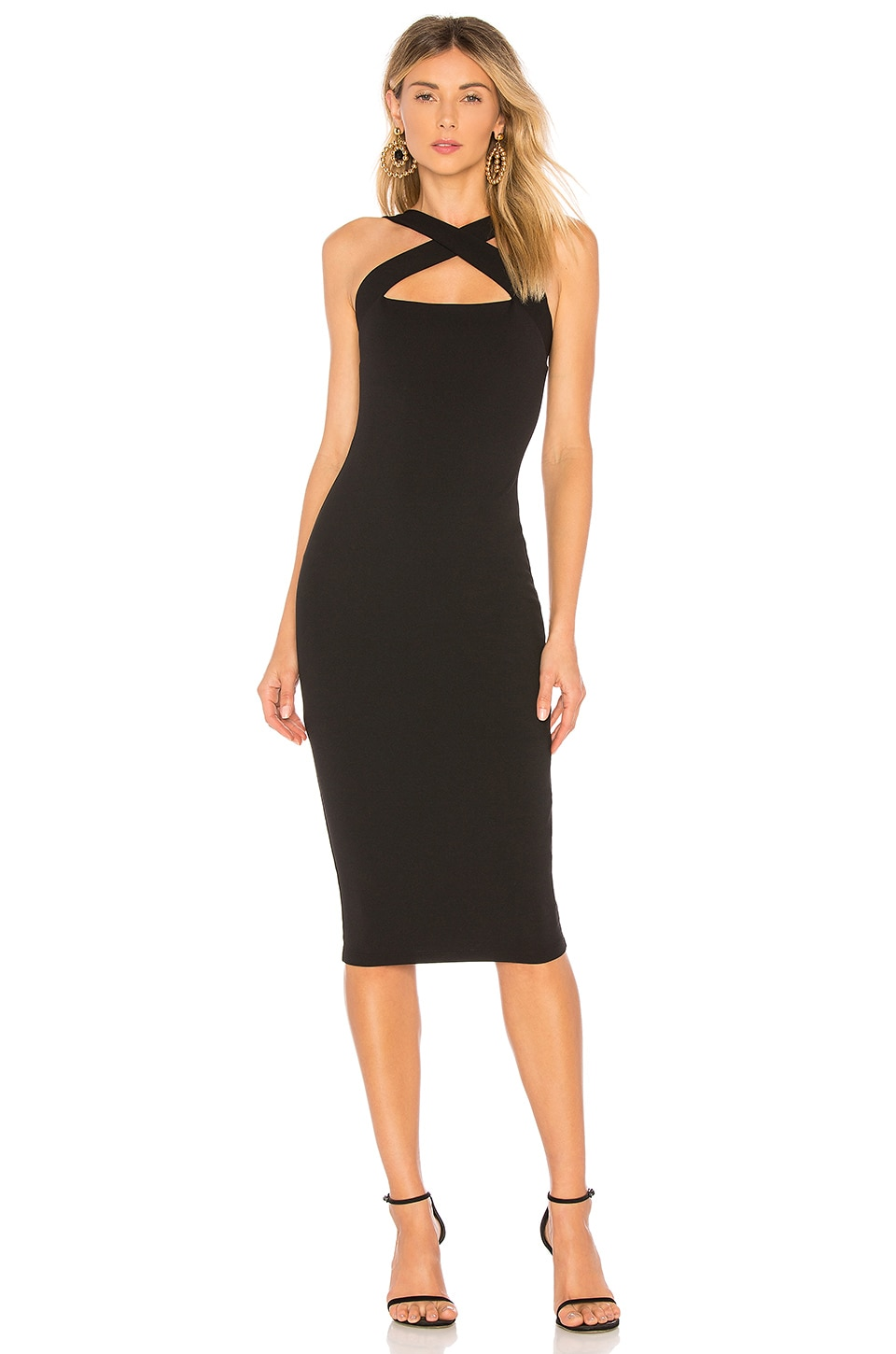 Nookie Viva 2Way Midi Dress in Black