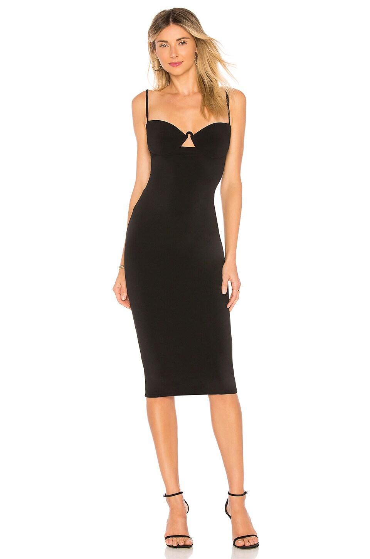 Nookie Flirt Midi Dress in Black