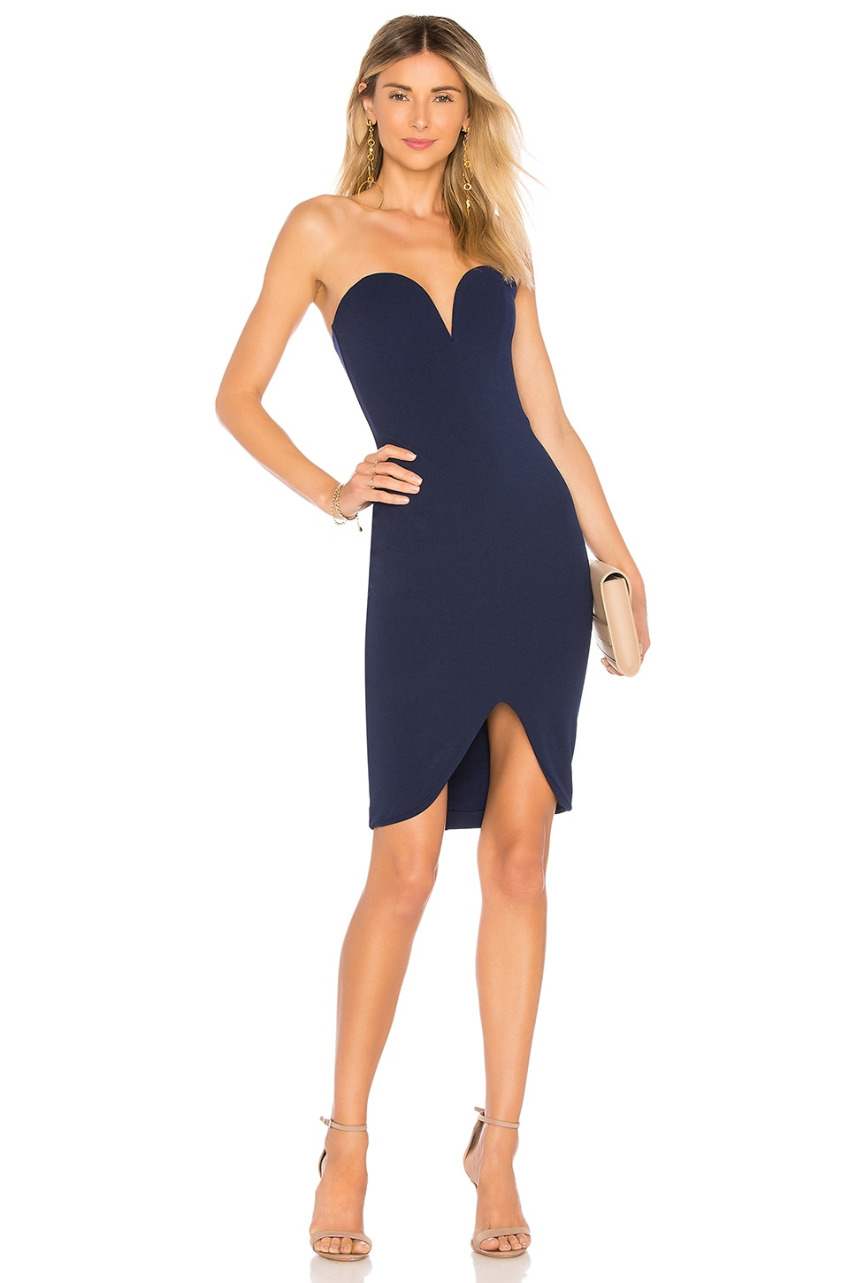 Nookie Honey Mini Dress in Navy